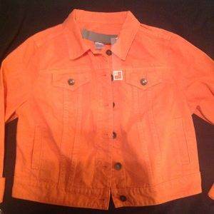 Women's Petite Lrg JCPenney brand denim jacket NWT